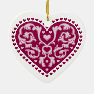 Folk Art Heart - Ornament