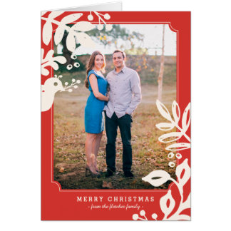 Folk Art Holiday Photo Greeting Card