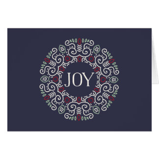 Folk Art Joy Holiday Card