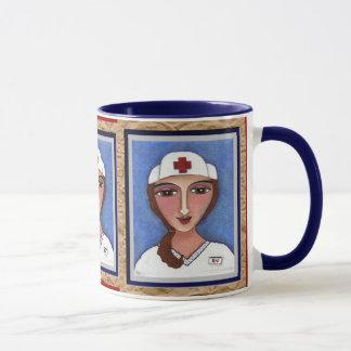 Folk Art Nurse - RN / nursing mug of healing