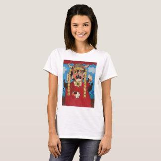Folk Art Opera Cat Design T-Shirt