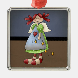 Folk Art Raggedy Doll Christmas Ornaments