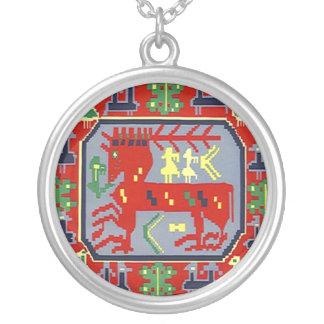 Folk Art Reindeer Sami Sapmi Nordic Necklace Gift