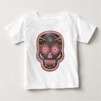 Folk Art Skull - day of the dead Baby T-Shirt