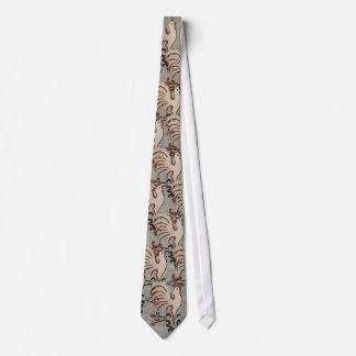Folk Art Style Rooster Tie