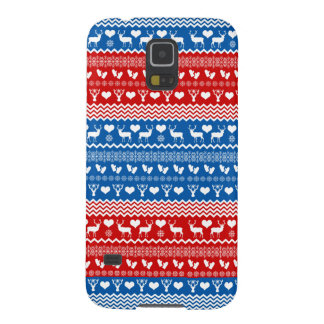 Folk Art Sweater Style Reindeer and Snowflakes Galaxy S5 Case