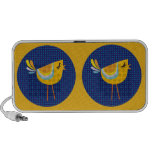 Folk Art Yellow Bird, Cute! iPod Speakers