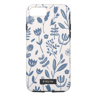 Folk Botanical Print iPhone 8/7 Case