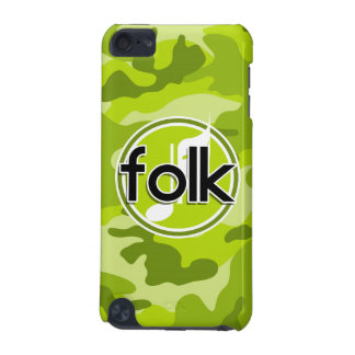 Folk bright green camo camouflage iPod touch 5G covers