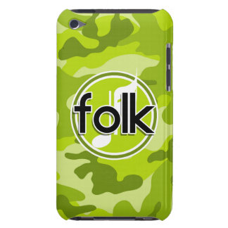 Folk bright green camo camouflage barely there iPod case