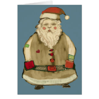 Folk Country Christmas Santa Personalize Template