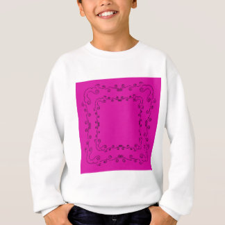 Folk elements pink with black sweatshirt