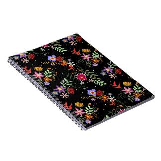 Folk embroidering notebooks