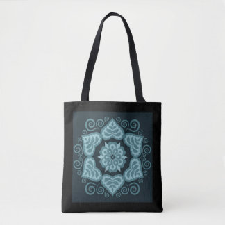 Folk Floral Design Decorative Tote