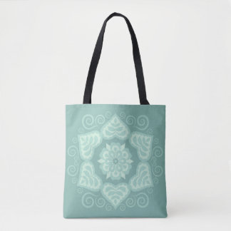 Folk Floral Design Fashion Tote - Marine II