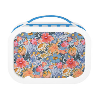 Folk Floral Garden Lunch Box