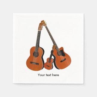 Folk Guitar Acoustic Bass and Ukulele Disposable Napkin