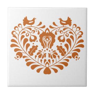 Folk Hearth Ceramic Tile