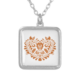 Folk Hearth Silver Plated Necklace