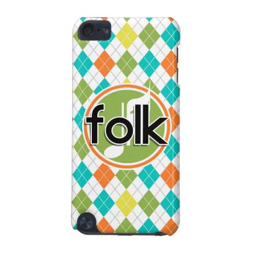 Folk Music; Colorful Argyle Pattern iPod Touch 5G Case