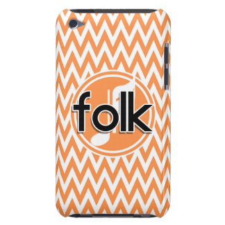 Folk Music; Orange and White Chevron Barely There iPod Covers