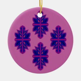 Folk ornaments purple