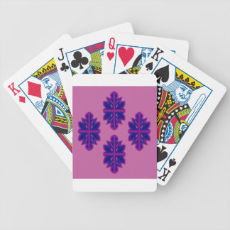 Folk ornaments purple bicycle playing cards