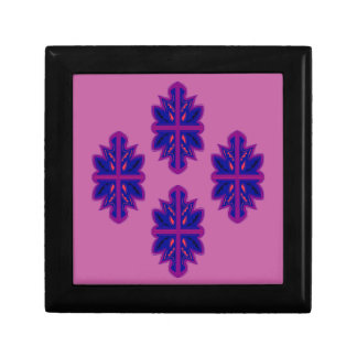 Folk ornaments purple gift box
