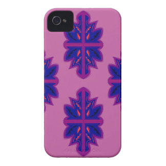 Folk ornaments purple iPhone 4 case
