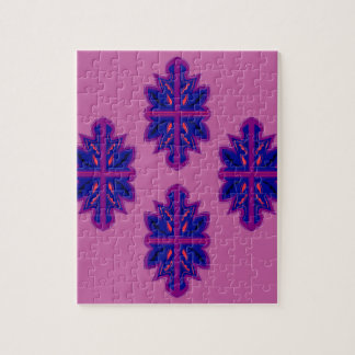 Folk ornaments purple jigsaw puzzle