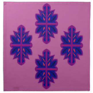 Folk ornaments purple napkin
