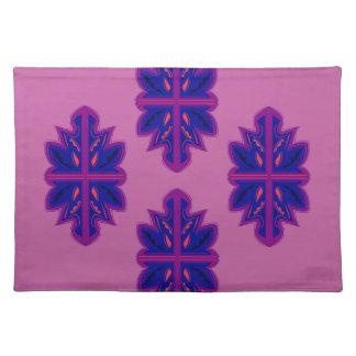 Folk ornaments purple placemat