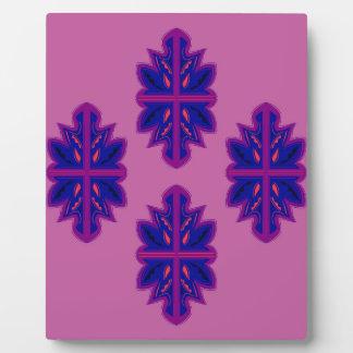 Folk ornaments purple plaque