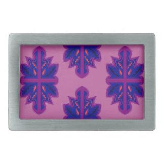 Folk ornaments purple rectangular belt buckles
