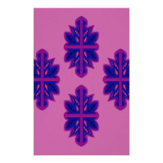 Folk ornaments purple stationery