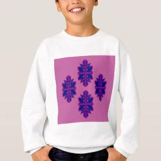 Folk ornaments purple sweatshirt