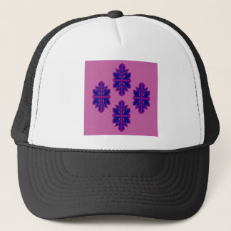 Folk ornaments purple trucker hat