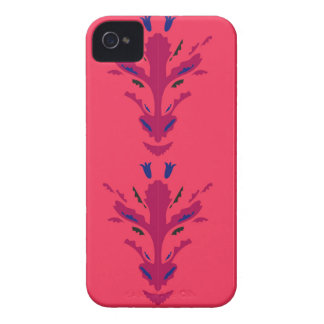 Folk ornaments Red iPhone 4 Case-Mate Cases