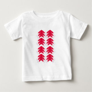 FOLK Ornaments red white Baby T-Shirt