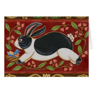 Folk Rabbit Card
