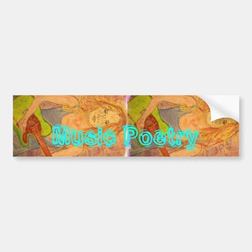 folk rock girl Music Poetry Bumper Sticker