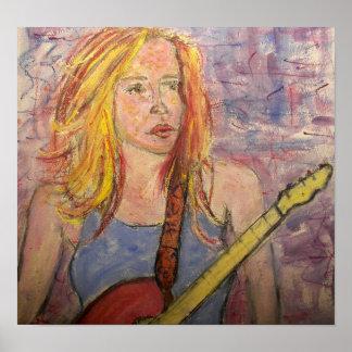 folk rock girl reflections poster