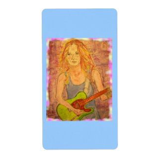 folk rock girl shipping label