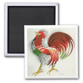 Folk Rooster #4 Magnet