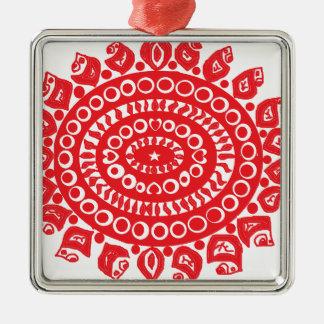 Folk Theme Christmas Ornament