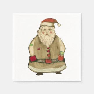Folk Whimsy Santa Claus Christmas Party Disposable Napkin