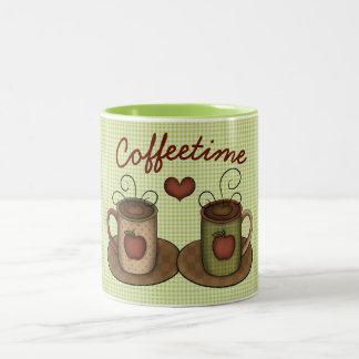 Folkart Coffeetime Two-Tone Coffee Mug