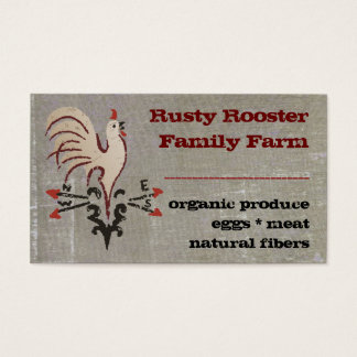 Folkart Style Rooster Business Cards