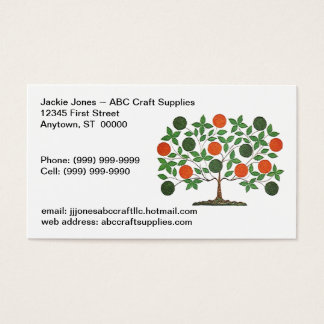 Folkart Tree Crafting Crafters Business Cards Card