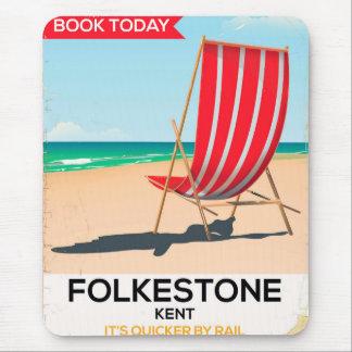 Folkestone Kent vintage seaside poster Mouse Pad